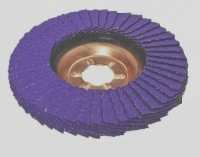 Ściernica lamelkowa ZIRCO 125mm P040 Ceramic VIOLET