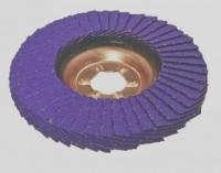 Ściernica lamelkowa ZIRCO 125mm P080 Ceramic VIOLET