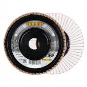 Tarcza listkowa RHODIUS do aluminium 125mm P040 LGA TOP