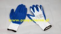 Rękawice nylonowe TELA niebieskie rozmiar 8
