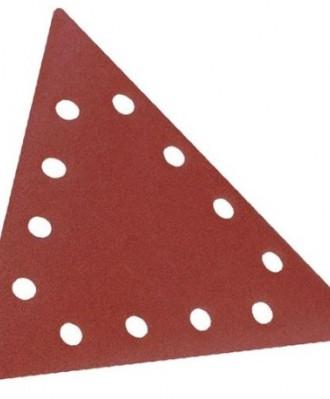 Krążek ścierny rzep trójkąt DELTA 290x290X290mm P100 PS18E 12 OTWORÓW