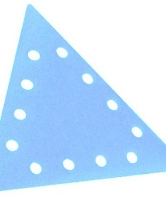 Krążek ścierny rzep trójkąt DELTA 290x290X290mm P040 SA331 12 OTWORÓW