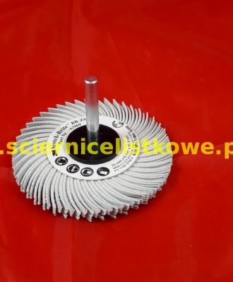 Szczotka Bristle BB-ZS z trzpieniem 75x6x6 P120 biała