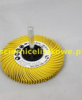 Szczotka Bristle BB-ZS z trzpieniem 75x6x6 P080 żółta