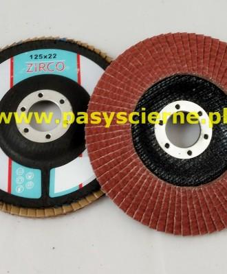 Ściernica lamelkowa ZIRCO 125mm P080 Ceramic D