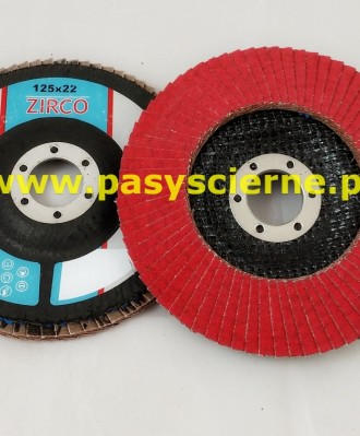 Ściernica lamelkowa ZIRCO 125mm P080 Ceramic N