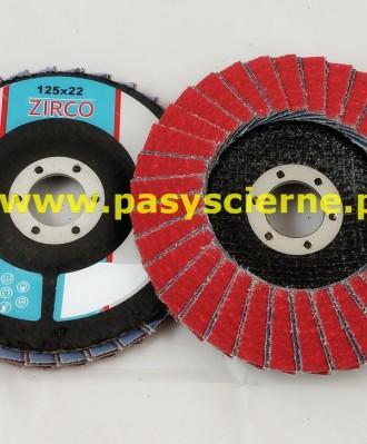 Ściernica lamelkowa ZIRCO 125mm P040 Ceramic T