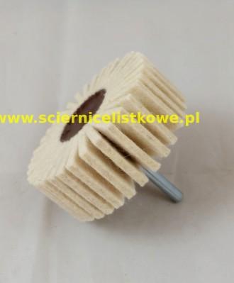 Ściernica filcowa listkowo trzpieniowa 80x50x6