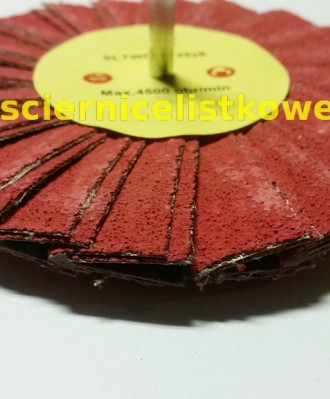 Ściernica daszkowa korundowa z trzpieniem 125x6 P060