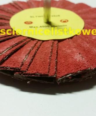 Ściernica daszkowa korundowa z trzpieniem 125x6 P080