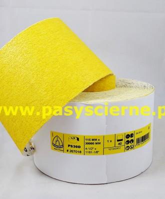 Papier ścierny 115 mm P040 PS30D KLINGSPOR