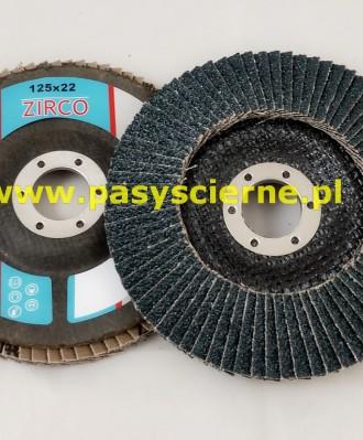 Ściernica lamelkowa ZIRCO 125mm P040 GRE