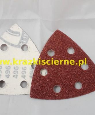 Krążek ścierny rzep trójkąt DELTA 96mm P120 PS22 K 6 OTWORÓW