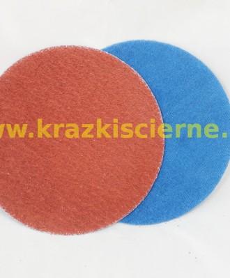 Krążek ścierny rzep 125mm P040 051XYPK BEZ OTWORÓW STAL/INOX
