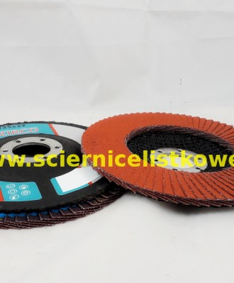 Ściernica lamelkowa ZIRCO 125mm P080 Ceramic CU płaska