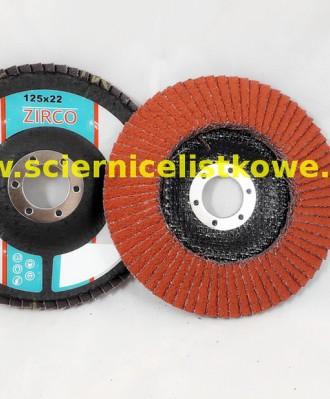 Ściernica lamelkowa ZIRCO 125mm P040 Ceramic CU