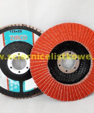 Ściernica lamelkowa ZIRCO 125mm P080 Ceramic 1A