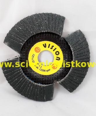 Ściernica listkowa talerzowa 125mm P060 VISION CYRKON