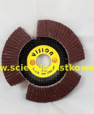 Ściernica listkowa talerzowa 125mm P080 VISION KORUND