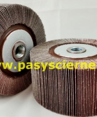 Ściernica listkowa z gwintem płótno Stal/Inox 100x50xM14 P080