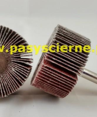 Ściernica listkowa trzpieniowa płótno Stal/Inox 30x30x6 P150