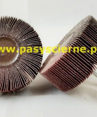 Ściernica listkowa trzpieniowa płótno Stal/Inox 80x40x6 P400