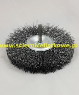 Szczotka tarczowa 80mm z trzpieniem 6mm