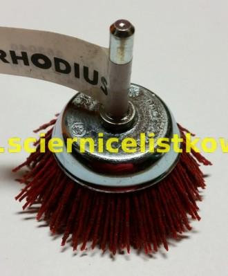 Szczotka nylonowa doczołowa trzpieniowa HTB 75mm (P080)COARSE RHODIUS